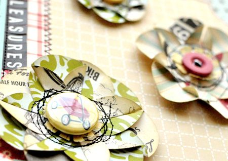 paper flowers how to make. Patterned Paper Flowers