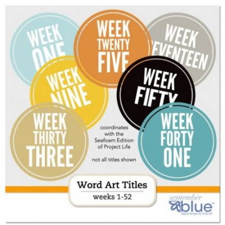 Free Project Life Printable Weekly Titles from September Blue