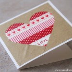 Washi Tape Valentime Card