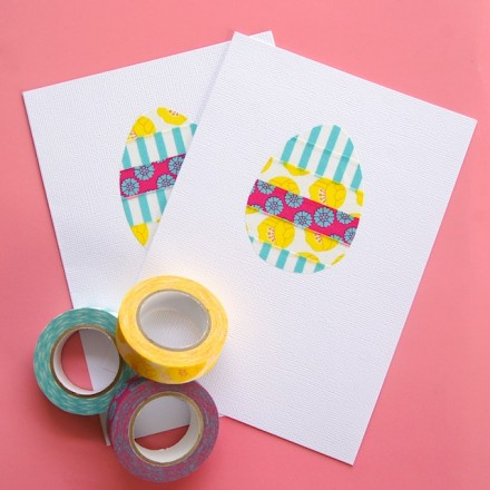 Washi tape easter egg card from Omiyage Blogs