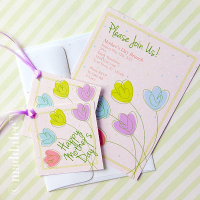 Craft Gossip - Free Printable Mother's Day Spring Party Package from maddalee