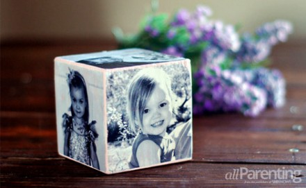 How to Make a Mother's Day Photo Cube at All Parenting