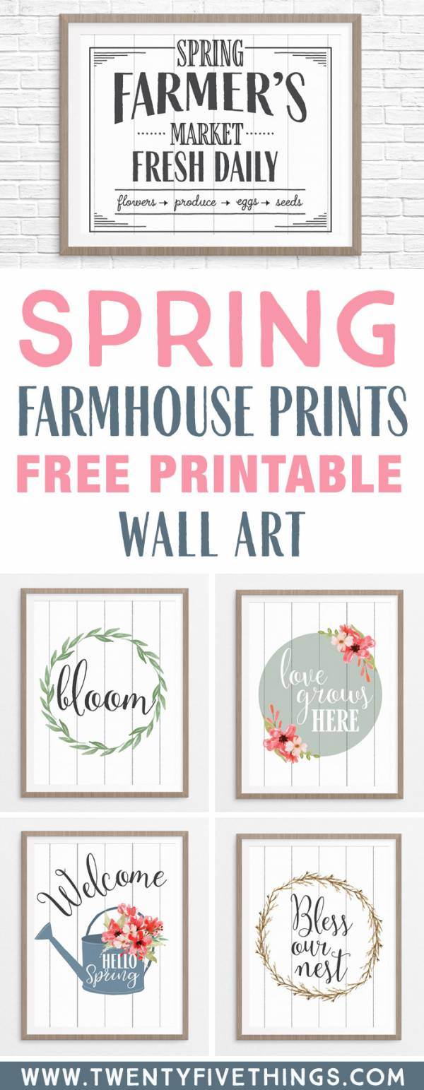 It's just a photo of Irresistible Farmhouse Free Printables